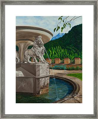 Lions Of Bavaria Framed Print by Charlotte Blanchard