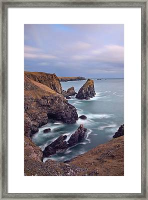 Lions Rock Near Kynance Framed Print by Pete Hemington