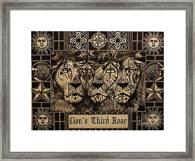 Lion's Third Roar Framed Print