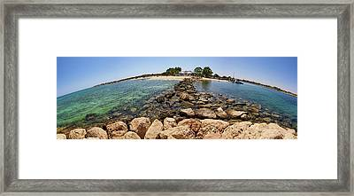 Liopetri Beach Planet Slice Framed Print