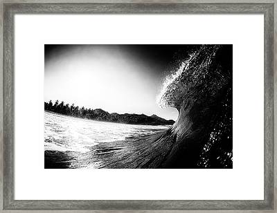lip Framed Print