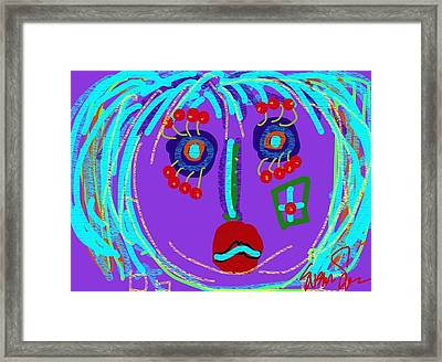 Lippy Girl Framed Print