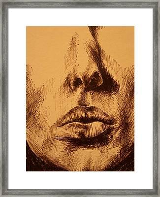 Lips Are Beautiful Framed Print by J Oriel