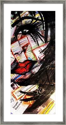 Lips Framed Print by Cat Jackson
