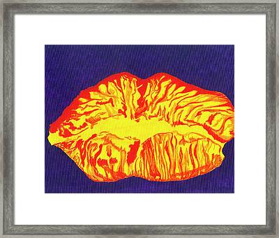 Lips Framed Print by Rishanna Finney
