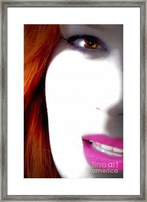 Lips Framed Print by Steven Digman