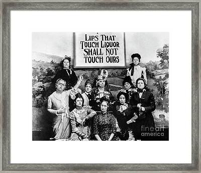 Lips That Touch Liqour Shall Not Touch Ours Framed Print by Jon Neidert