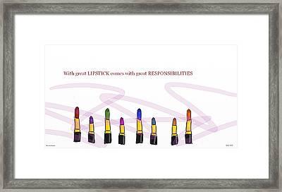 Lipstick Color Framed Print by Mayra HArper