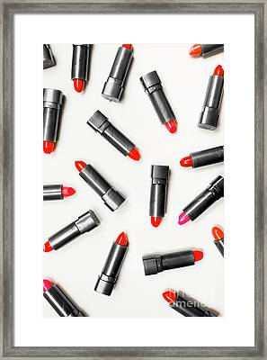 Lipstick Makeup In Abstract Framed Print by Jorgo Photography - Wall Art Gallery