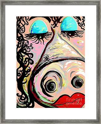 Lipstick On A Pig Framed Print by Eloise Schneider