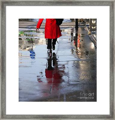 Lipstick On The Street Framed Print by Paolo Pizzimenti