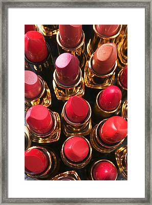Lipstick Rows Framed Print by Garry Gay