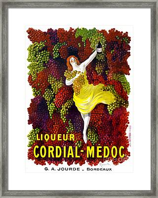 Liquer Cordial-medoc Vintage Poster Restored Framed Print