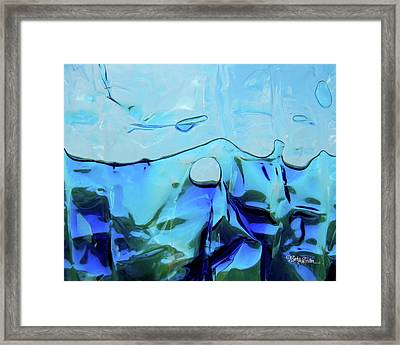 Framed Print featuring the photograph Liquid Abstract  #0059 by Barbara Tristan