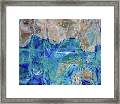Framed Print featuring the photograph Liquid Abstract  #0060 by Barbara Tristan