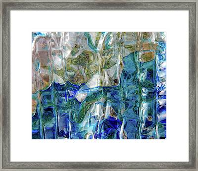 Framed Print featuring the photograph Liquid Abstract #0061 by Barbara Tristan