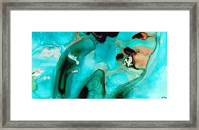 Liquid Art - Aqua Dance - Sharon Cummings Framed Print by Sharon Cummings