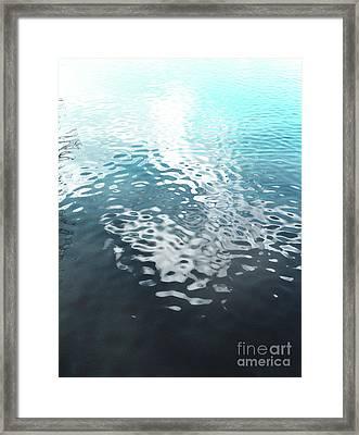 Liquid Blue Framed Print