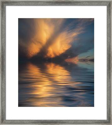 Liquid Cloud Framed Print by Jerry McElroy