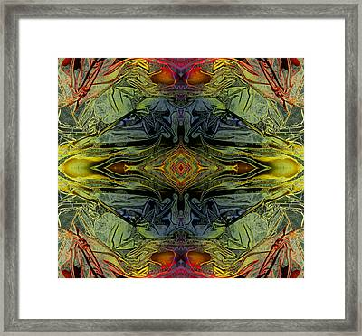 Liquid Decalcomania Mirror Framed Print by Otto Rapp