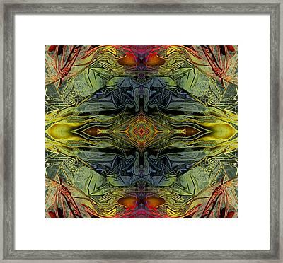 Liquid Decalcomania Mirror Framed Print