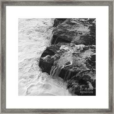 Liquid Edge. 3  Framed Print by Paul Davenport