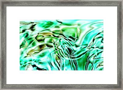 Liquid Framed Print by Eileen Shahbazian