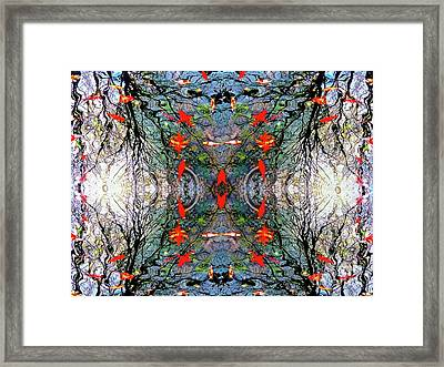 Liquid Geometry Framed Print