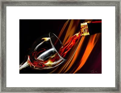 Liquid Gold Framed Print by Danuta Bennett