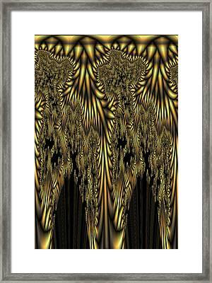 Liquid Gold Framed Print by Digital Art Cafe