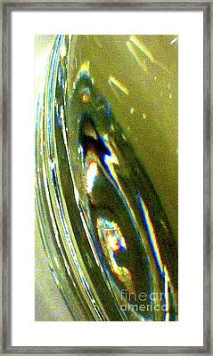 Liquid In Glass 11 Abstract Framed Print by Ken Lerner