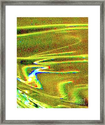 Liquid In Glass 14 Abstract Framed Print by Ken Lerner
