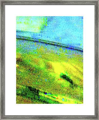 Liquid In Glass 15 Abstract Framed Print by Ken Lerner