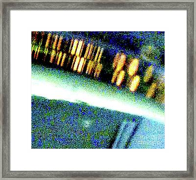 Liquid In Glass 17 Abstract  Framed Print by Ken Lerner