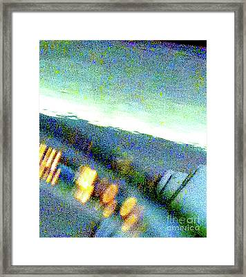 Liquid In Glass 18 Abstract Framed Print by Ken Lerner