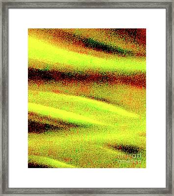 Liquid In Glass 20 Abstract Framed Print by Ken Lerner
