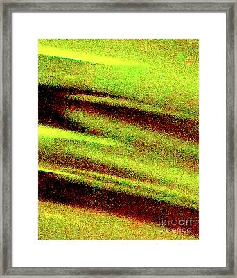 Liquid In Glass 21 Abstract Framed Print by Ken Lerner