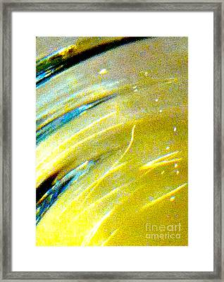 Liquid In Glass 3 Abstract  Framed Print by Ken Lerner