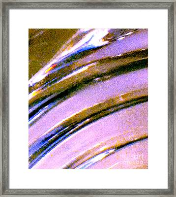 Liquid In Glass 4 Abstract  Framed Print by Ken Lerner