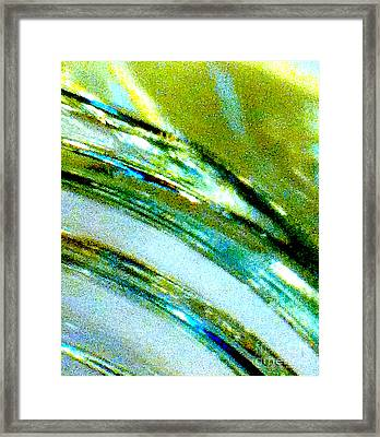 Liquid In Glass 5 Abstract Framed Print by Ken Lerner