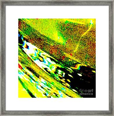 Liquid In Glass 7c Abstract  Framed Print by Ken Lerner