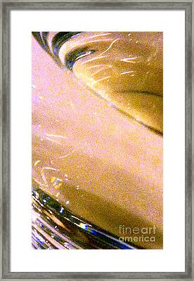 Liquid In Glass 8 Abstract  Framed Print by Ken Lerner