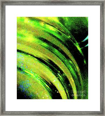 Liquid In Glass 9 Abstract Framed Print by Ken Lerner