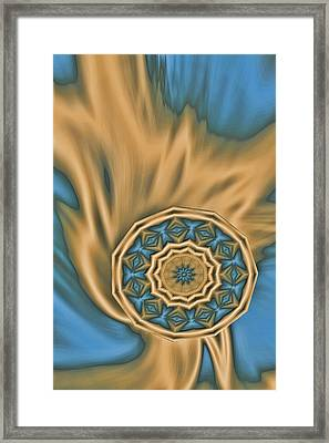 Liquid Kindle In Gold Framed Print by Linda Phelps