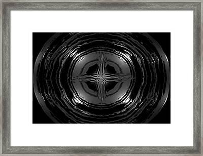 Liquid Metal Framed Print by Chad Rew