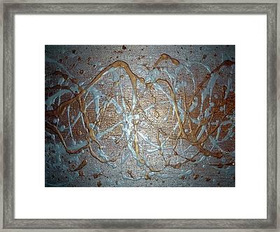 Liquid Metal Framed Print by Daniel Lafferty