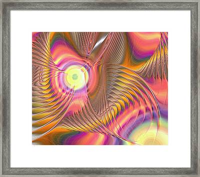 Liquid Rainbow Framed Print