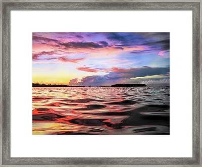 Liquid Red Framed Print