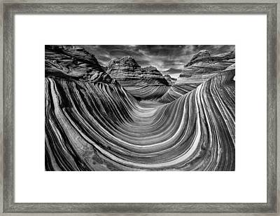 Liquid Rock 2 - The Wave Framed Print by Justin Hofman