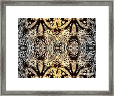 Liquid Silver And Gold Patterns Framed Print by Jolanta Anna Karolska